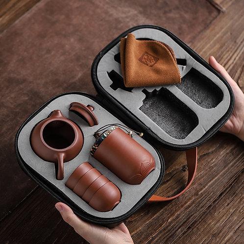Traveling Tea Ceremony - Ceramic Portable Teapot Set