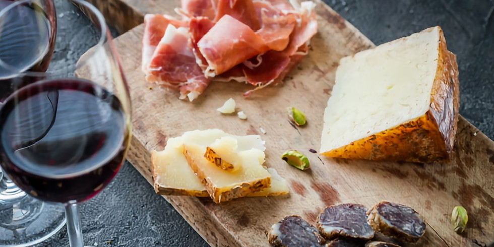 September 12th Spanish Cheese, Wine and Charcuterie Pairing