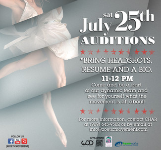 Join the Competition Team! Auditions: July 25th