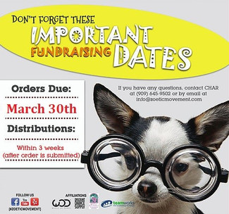 All Fundraising Payments Are Due March 30th