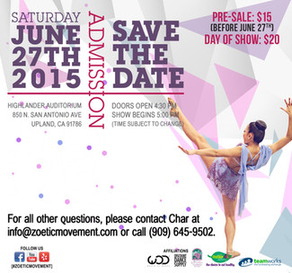 SAVE THE DATE - June 27th is our Annual Showcase