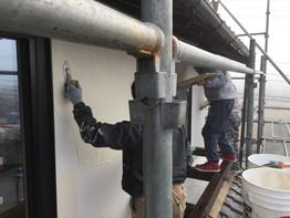 外壁漆喰塗り、ツルッツルです!