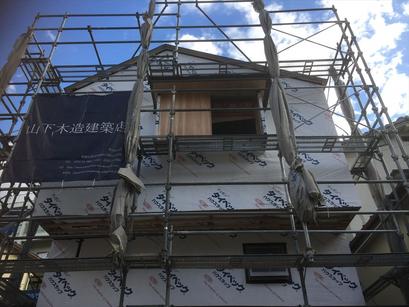 外壁耐力面材~透湿防水シート「タイベックハウスラップ」
