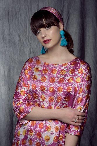 """""""Russian Doll"""" Silk Tunic Dress"""