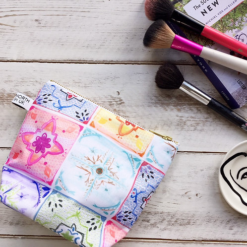 """Mediterranean Tile"" Make Up Bag"