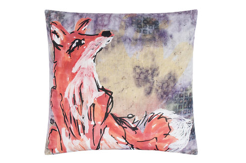 """Fox"" Velvet Cushion"