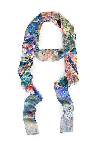 """Imbolc Festival"" silk skinny scarf"