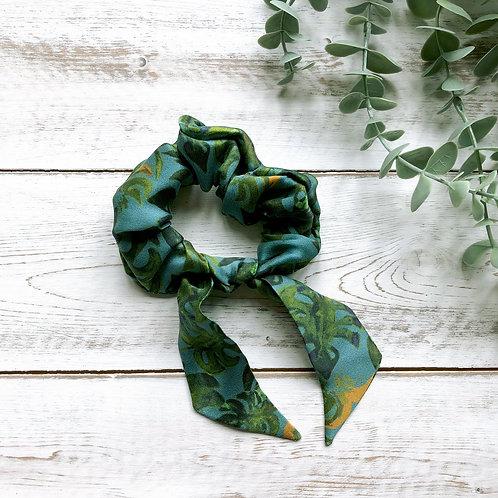 """Tropical"" Silk Scarf Scrunchie"