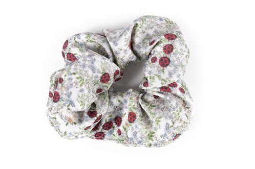 """""""Ladybird"""" Silk Scrunchie"""