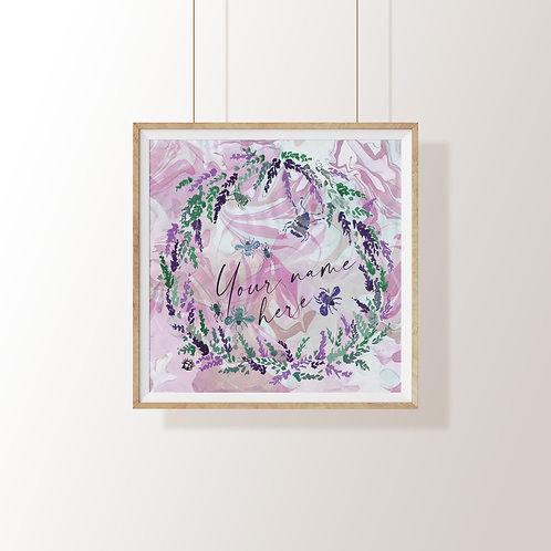 Personalised Heather Art Print