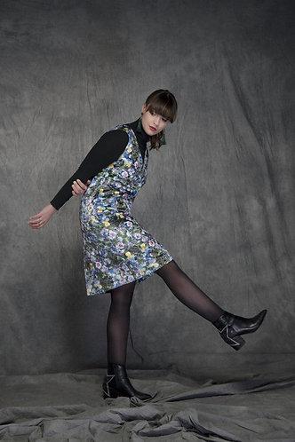 """""""Pansies"""" Velvet Shift Dress"""