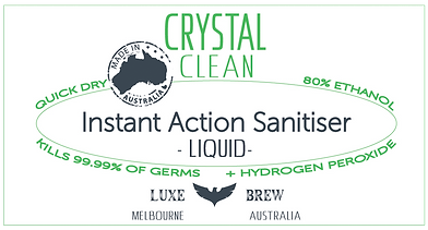 Crystal Clean Sanitiser Liquid 80 Ethano