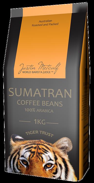 SUMATRAN TIGER TRUST  COFFEE BEANS - 1KG