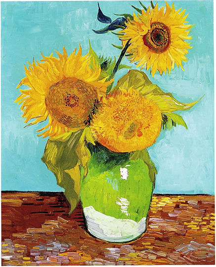 Vincent_Van_Gogh_-_Three_Sunflowers_F453