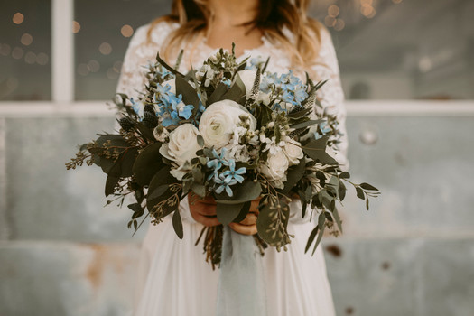 Delphynium, blue flower, Austin Texas. Wedding bouquet, Florist