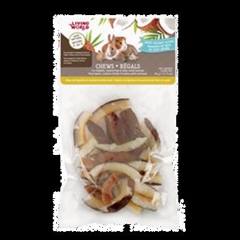 Régals tranches de noix de coco séchée Living World pour rongeurs
