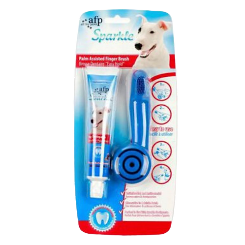 Doigtier brosse a dents Sparkle All For Paws dentifrice arachide pour chien Animal Expert St-Bruno