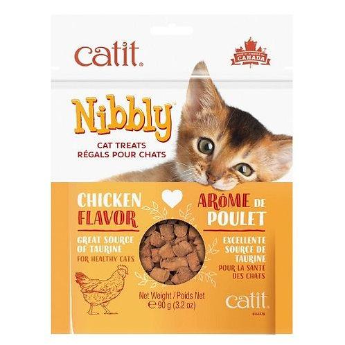 Régals Catit Nibbly pour Chats au Poulet