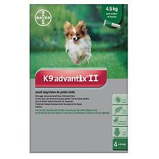 Protection contre les puces et tiques Bayer k9 Advantix II pour petits chiens