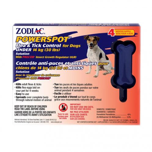 PowerSpot anti-puces et tiques pour Chiens 30lbs et Plus Zodiac Animal Expert St-Bruno