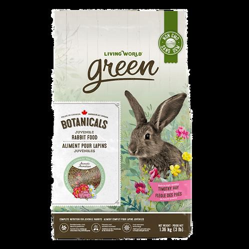 Aliment Botanicals pour lapins juvéniles Living World Green