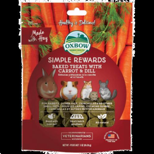Gâteries à la carotte et aneth Simple Rewards d'Oxbow