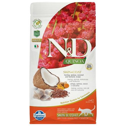 Farmina N&D Quinoa Sans Grain Chat Peau et Poils Hareng