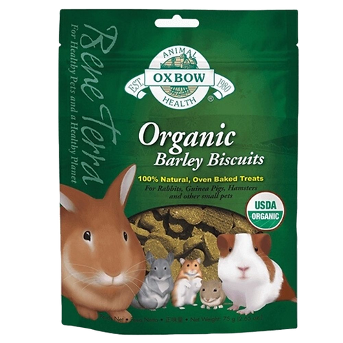 Biscuits orge organic Oxbow pour rongeurs Animal Expert St-Bruno