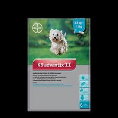 Protection contre puces et tiques Bayer K9Advantix II pour chien moyen