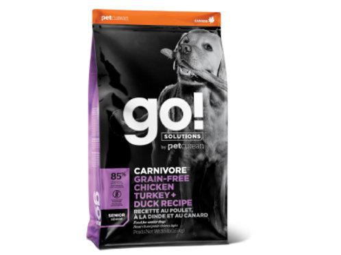 GO! Chien Sénior Carnivore Sans Grains Poulet, Dinde + Canard