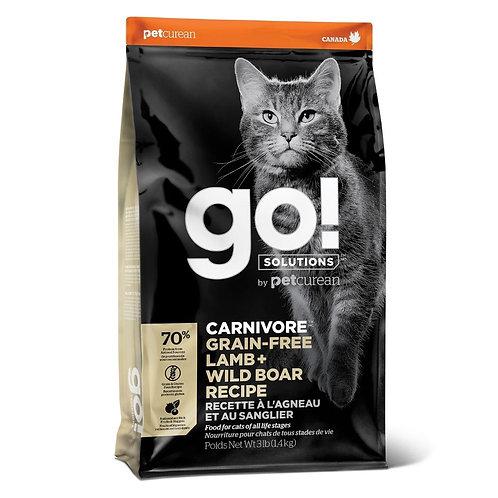 Recette agneau et sanglier sans grains Go Solutions Petcurean Carnivore pour chat Animal Expert St-Bruno.