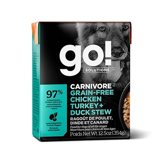 Tetra pak ragout poulet dinde canard Go Solutions pour chien Animal Expert St-Bruno