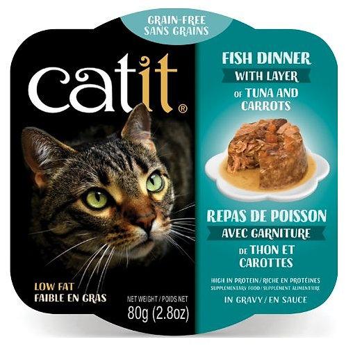 Repas de Poisson Catit pour Chat Thon et Carottes