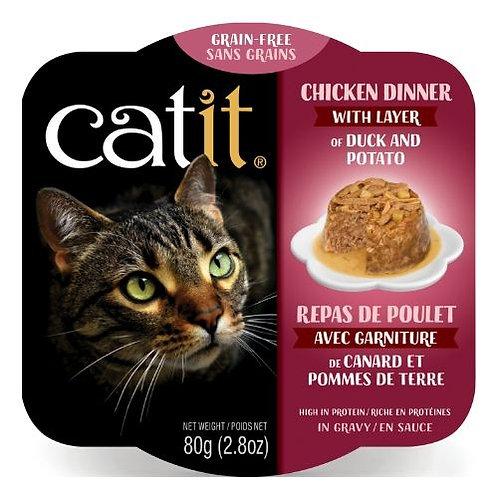 Repas de Poulet Catit pour Chat Canard et Pommes de Terre