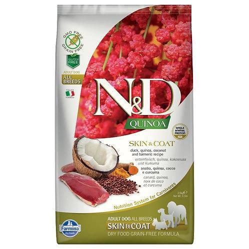 Farmina N&D Quinoa Sans Grain Chien Peau et Poils Canard