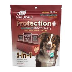 Dentifrice 5 en 1 sans brosse Ark Naturals chien 20-40 lbs