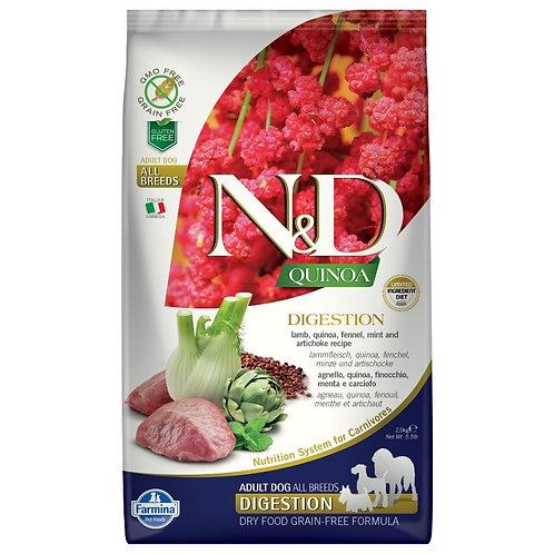 Farmina N&D Quinoa Sans Grain Chien Digestion Agneau