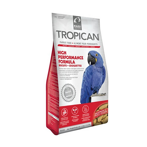 Aliment High Performance Tropican pour perroquets, croquettes