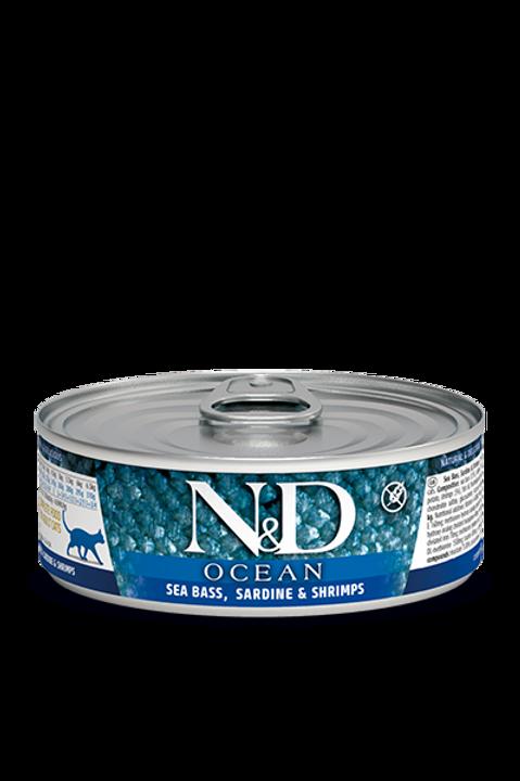 Conserve bar sardine et crevette Farmina pour chat Animal Expert St-Bruno