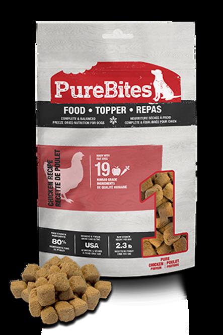 Recette lyophilisée au poulet - Food Tooper PureBites pour chien