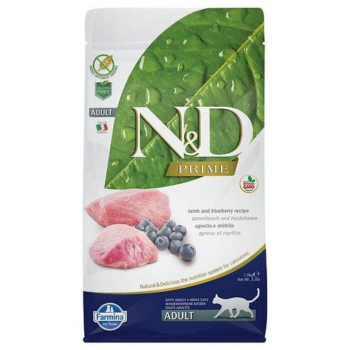 Farmina N&D Prime Sans Grain Chat Agneau et Bleuet