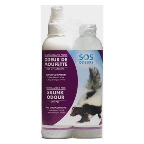Duo Magic Contre L'odeur de Moufette 2x250ml SOS Odeurs