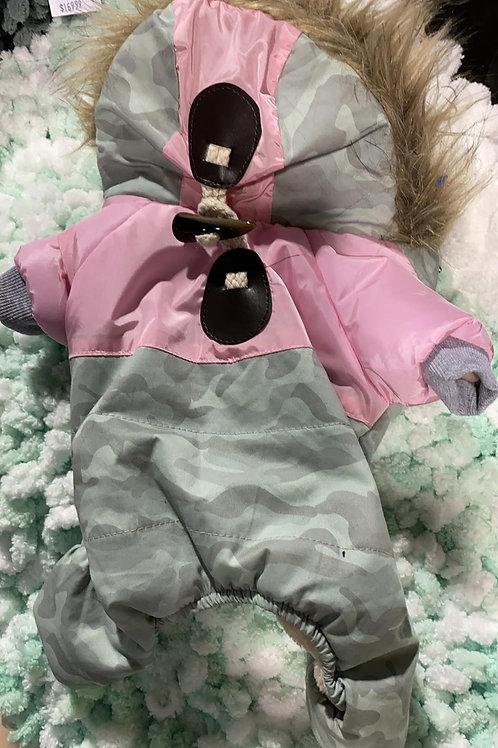 Manteau rose et gris avec pattes de Dobaz Limited pour chien