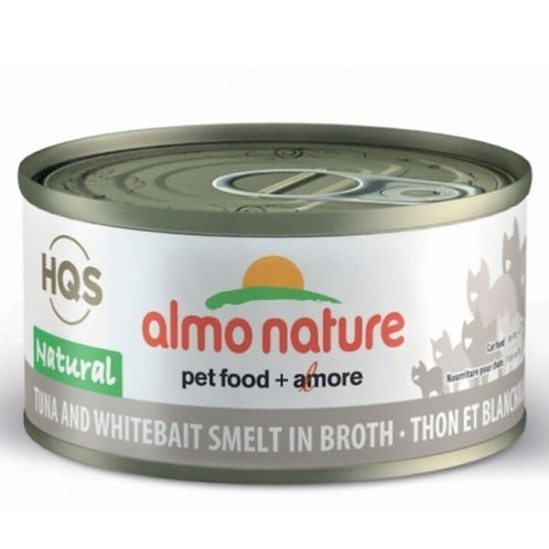 Thon et blanchaille Almo Nature HQS complete pour chat Animal Expert St-Bruno