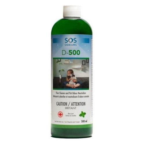 D-500 Nettoyant Plancher-Neutralisant Odeurs Animal SOS Odeurs