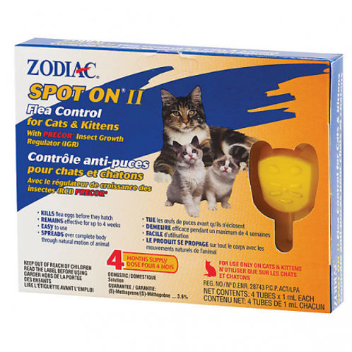 SpotOn anti-puces pour Chats et Chatons Zodiac Animal Expert St-Bruno