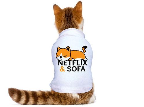 Chien fou Netflix et sofa pour chat Animal Expert St-Bruno