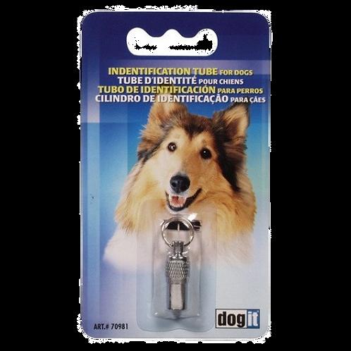 Tube identite Dogit chrome pour chien Animal Expert St-Bruno