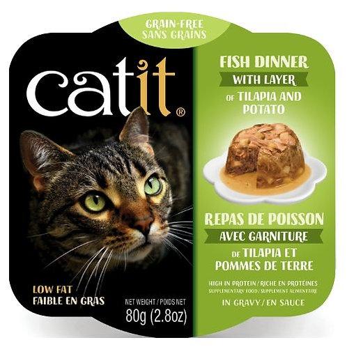 Repas de Poisson Catit pour Chat Tilapia et Pommes de Terre