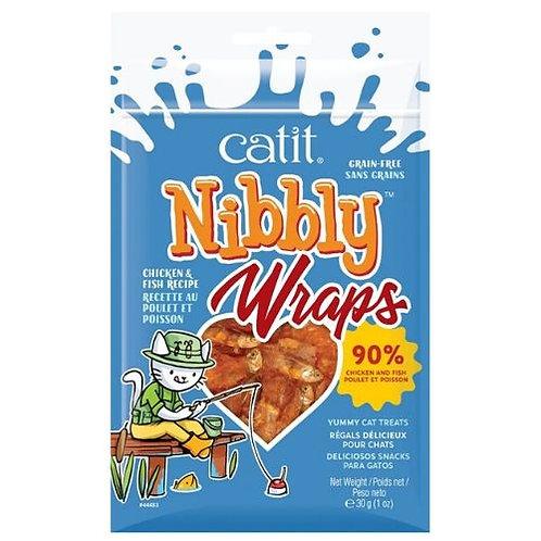 Roulades Catit Nibbly Wraps Poulet et Poisson